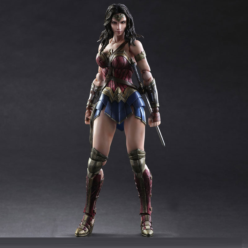 New Arrival Batman V Superman Dawn Of Justice Wonder Woman Doll DC Super Heroes PVC 26CM Action Figure Collection Model Kids Toy