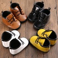 PU Leather Newborn Baby Crib Shoes Brand Warm Lace-Up Baby First Walkers Soft Soles Non-slip Toddler Boy Girl Shoes
