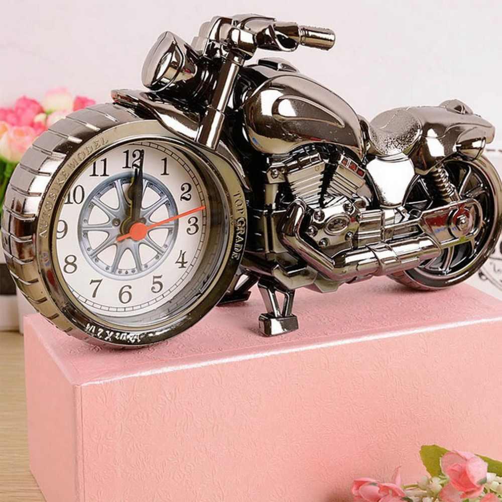 Relógio de Quartzo legal Motocicleta Criativo creative Desktop Relógios de Bolso Do Vintage Padrão Moto 2018 Relógio New Arrivals