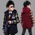 Wool Coat For Boys Girls Woolen Coat Plaid Girls Coats Childrens Children Wool Coats Kids Jacket Clothing Sets