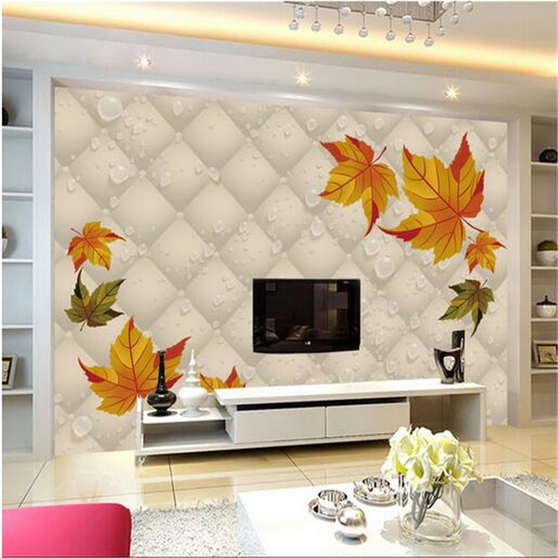 3d wallpaper custom frescoes non-woven photos autumn red leaf maple leaf 3d tv background wall mural wallpaper of living room beibehang lovely abc print kid bedding room wallpapers ecofriendly fantasy non woven wall paper children mural wallpaper roll