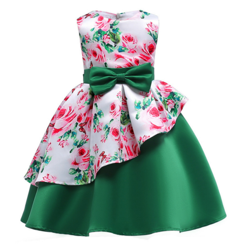 Flower Girl Dress for Wedding Party Princess Tutu Dress Summer Sleeveless Ball Gown Dresses for Girls Floral Clothes Vestidos inc international concepts new multi bell sleeve printed romper m $79 5 dbfl