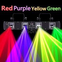 Ship From AU ! 420mW 4 Beams Red Green Yellow Purple DJ Stage Laser Light DMX Disco Show Party Lamp