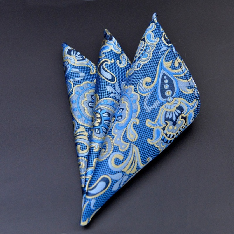 Men's 100% Silk Handkerchief Polka Dots Chest Towel Hanky Wedding Banquet Christmas Pocket Square