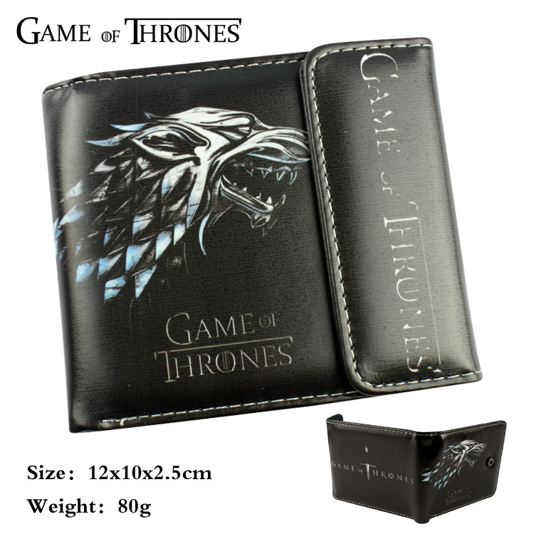 Game of Thrones wallet cartoon Purse for Young People mens women purse male female coin purses holders wallet wallet