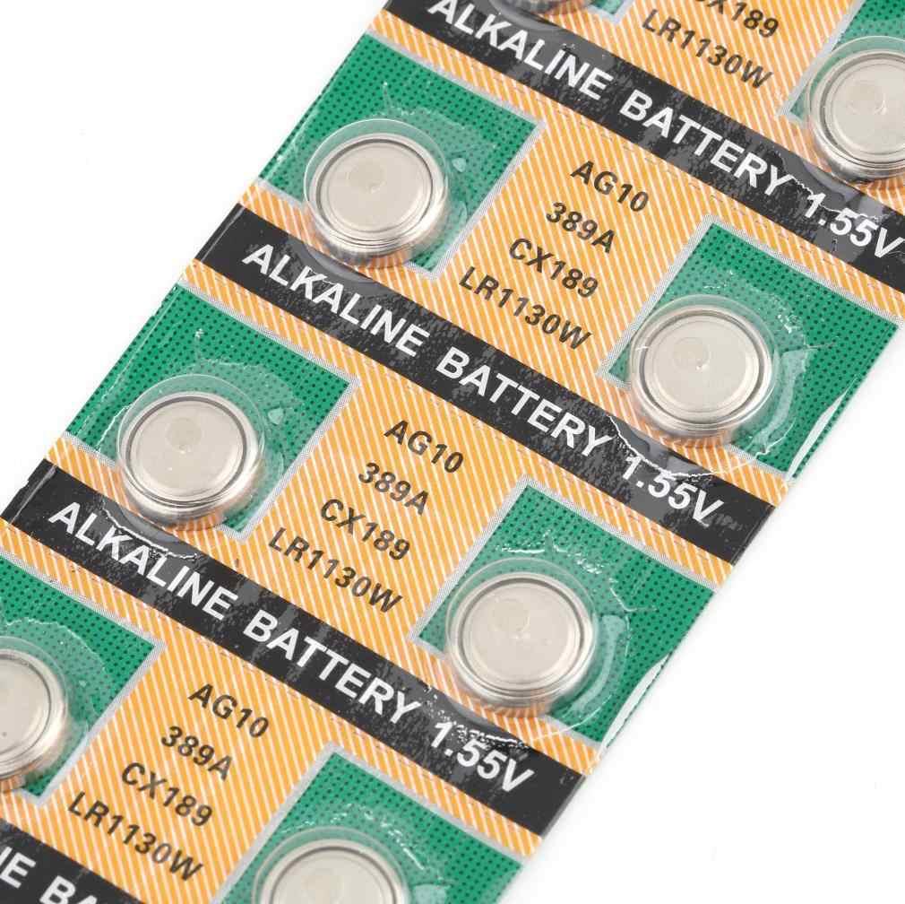 AG10 LR1130 389A LR54 L1131 189 Kiềm Cell Pin Nút DropShipping
