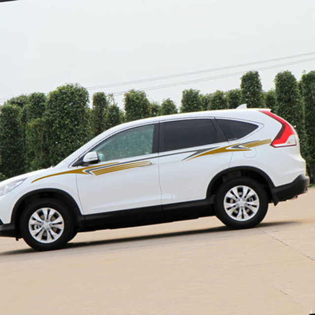Both sides body side skirt vinyl decals auto protection diy sticker for hrv crv rav4 tucson