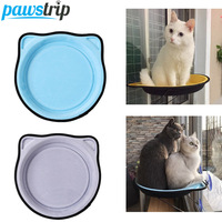 pawstrip 6 Colors Window Cat Bed Lounger Window Perch Diameter 37cm Cartoon Cat Hammock Pet Beds For Cats Kitten