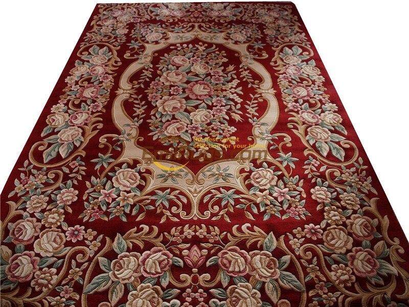 Viscose tapis français à propos de la Savonnerie en peluche épaisse nouée à la main tapis fait sur commande 6.56 'X 9.84' lx1416 395a gc85savgy16