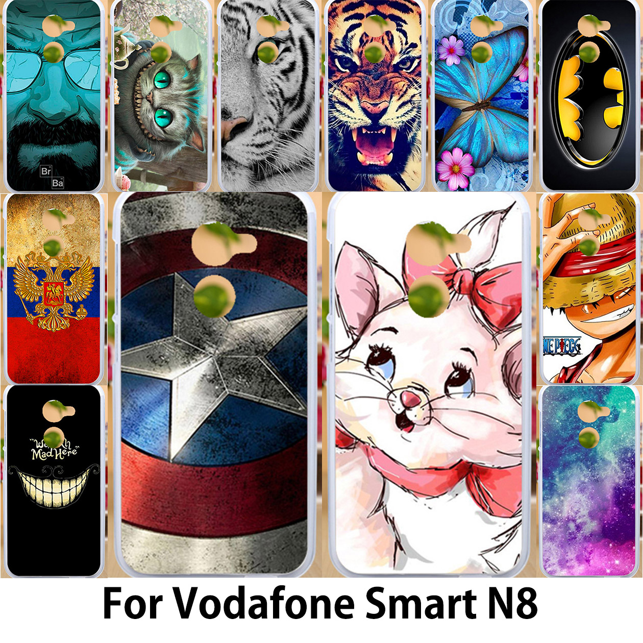 Galleria fotografica AKABEILA Case For Vodafone Smart N8 VFD610 Cases Silicone Soft TPU <font><b>Covers</b></font> 5.0 inch Pig Captain American Patterns Shells