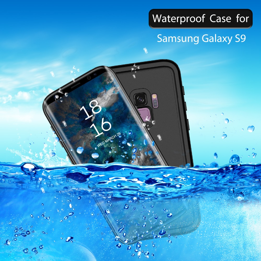 For Samsung Galaxy S8 Plus S9 Waterproof Case Shockproof Rear cover fully sealed For Samsung Galaxy