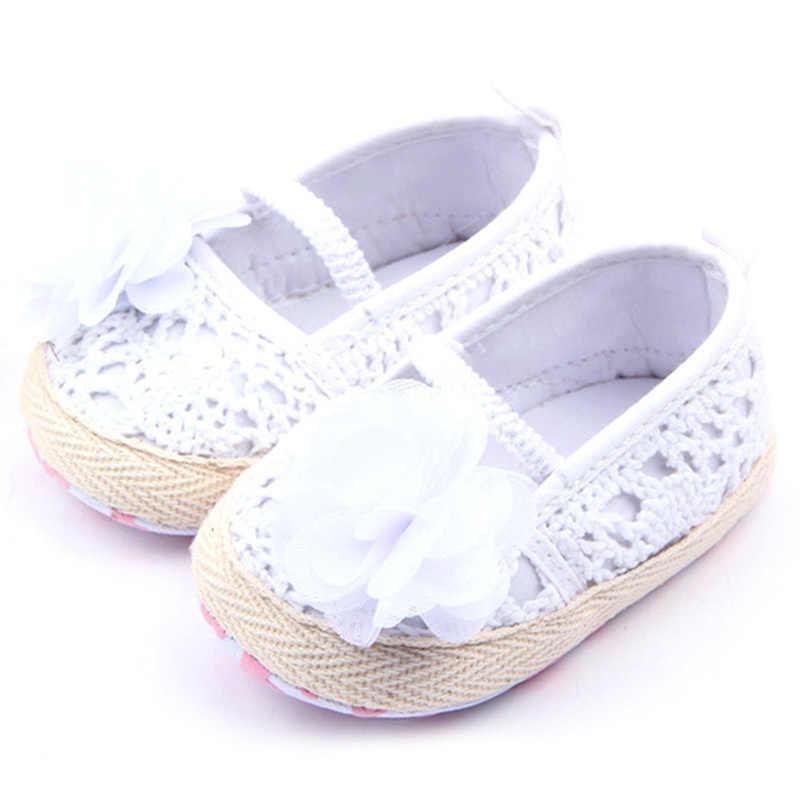 0-12M bebé niña suela suave antideslizante Crochet Knitborn transpirable que hace punto los zapatos antideslizantes