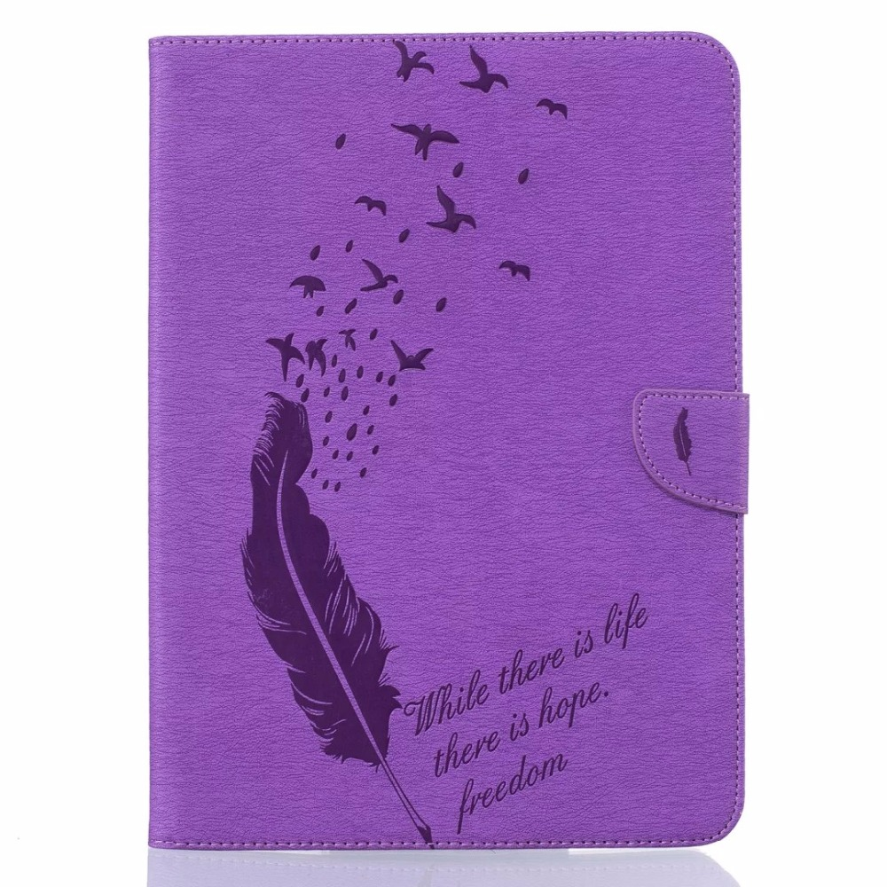 Luxury Feather Pattern PU Leather Case For Samsung Galaxy Tab S2 9.7