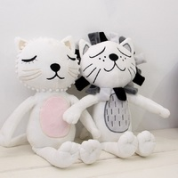 Free Shipping 2016 New Fashion Cartoon Cats Lions Animals Kawaii Plush Dolls Stuffed Calm Sleep Pillow