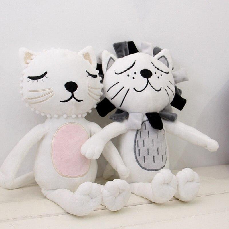 2017 New Fashion Cartoon Cats Lions Animals Kawaii Plush Dolls Stuffed Calm Sleep Pillow Toys Gifts