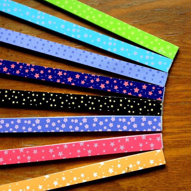 360pcs lucky star paper folding paper strips origami for Quilling strips designs