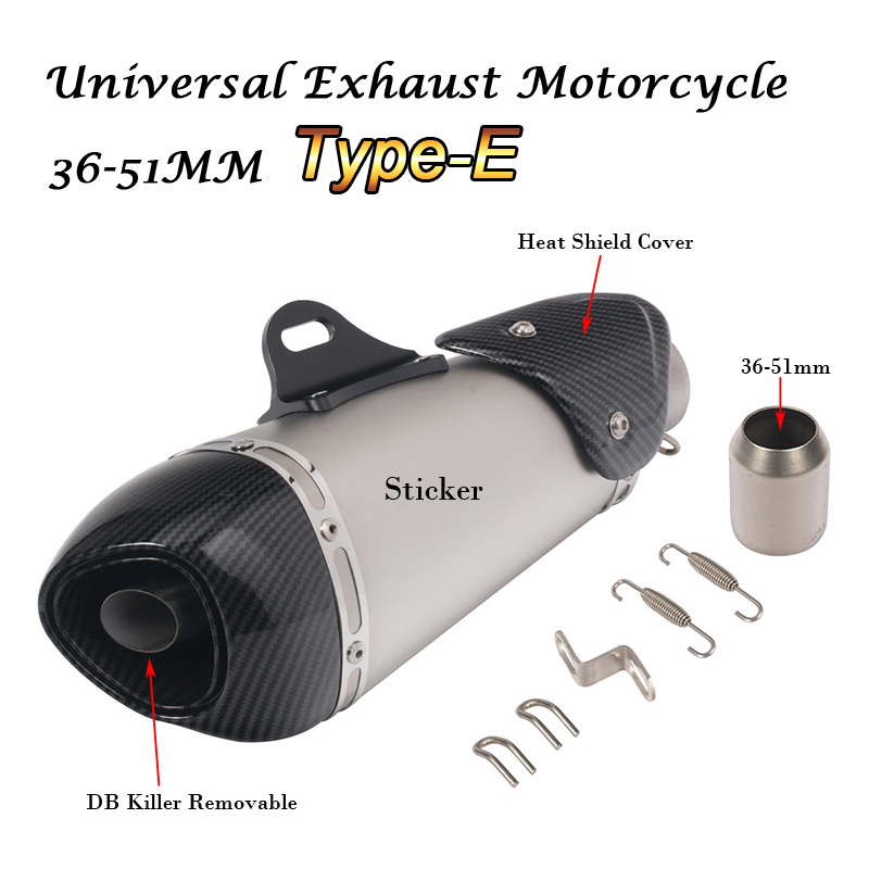 Unversal 36 51MM Motorcycle Muffler Exhaust DB Killer Silencer Modified Escape Moto Carbon Fiber For Honda YAMAHA in Exhaust Exhaust Systems from Automobiles Motorcycles