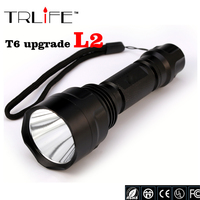 High Quality Lantern C8 CREE Led Flashlight 3800 Lumens Lanterna Led CREE XM L2 Torch Light