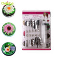 Delidge 11pcs/set 3D Jelly Flower Art Tools Jelly Cake Gelatin Pudding Nozzle Syringe Russia Nozzle Set Cake Decorating Tools