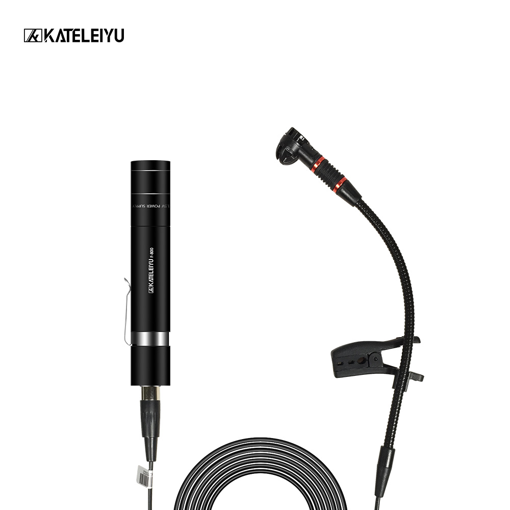 Portable Mini electret Condenser Microphone with cable Lapel Lapel Microphone Saxophone Trumpet violin guitar Musical Instrument