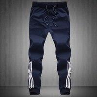 2016 Brand New Large Sizes Mens Sweat Pants Black Blue Grey Korean Fashion Clothing Man M