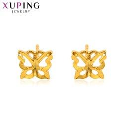 Xuping Fashion kolczyki w kształcie motyla Pure Gold kolorowy platerowany szpilki dla kobiet dziewczynki Christmas Day biżuteria prezenty 95068