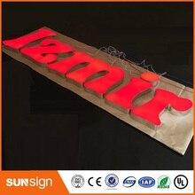 Новое Прибытие! 3D акриловые светодиодные буквы знак напольный подгонянный Рекламирующ бизнес открыть
