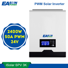 EASUN POWER inversor Solar PWM de 2400W, 24V, 220V, 50A, PWM, 3Kva, 50Hz, fuera de la red, cargador de batería de 25a