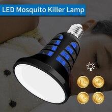 E27 LED Mosquito Killer Lamp 110V Anti Outdoor USB 5V Fly Bug Housefly Insect Killing Bulb 220V Two Mode 8W 2 in 1