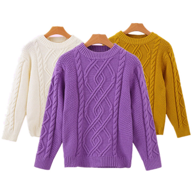 eedacbbcf Funfeliz Ribbed Sweater Autumn Winter Kids Pullover Baby Girl ...