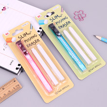 1 Set Scalable Refills Eraser Knife Shape Rubber Eraser Set Have Two Refills Office School Cute School Material Office Supplies(China)