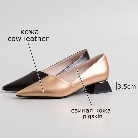 ALLBITEFO fashion pointed toe thick heel women shoes brand high heels party women shoes spring office ladies shoes size:33-43 Karachi