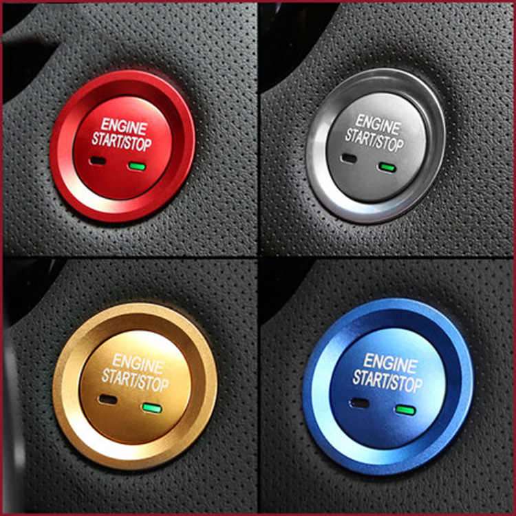 La décoration de bouton de système de démarrage sans clé d'anneau d'arrêt de moteur de voiture couvre le style de voiture pour Cadillac XT5 CT6 SRX CTS XTS