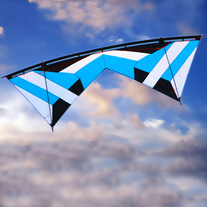 Free Shipping High Quality 2.4m Butterfly Quad Line Stunt Kite With Handle Line Outdoor Toys Easy Control Weifang Kite Flying