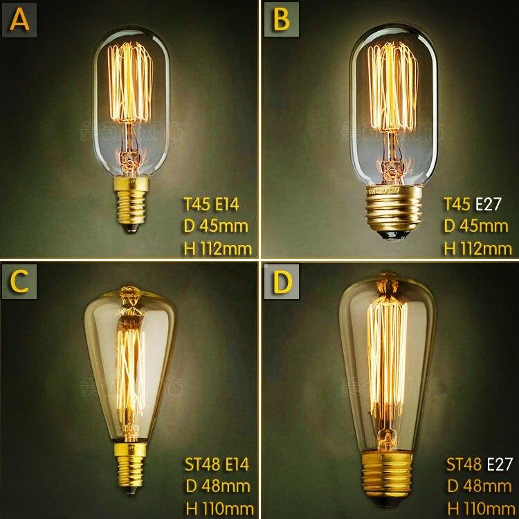 buy 2pcs e27 40w lampada edison lamp. Black Bedroom Furniture Sets. Home Design Ideas
