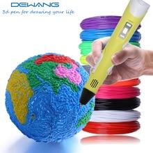 DEWANG 3d Printing Pen for Kids Children Drawing Pen ABS PLA Filaments LCD Display Screen Nozzle Pen 3d Plastic Handle Scribble цена