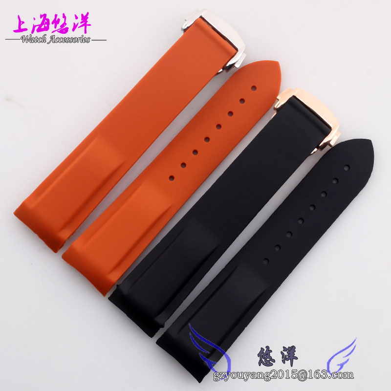 New Arrival Soft Silicone Wrist Band Orange silicon watchband silicone rubber watchband 20mm 22mm silicone watch
