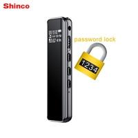 Shinco V19 Smart Lock Voice Recorder Professional Digital Audio Voice Activated Recorder Mini Dictaphone MP3 Music Player