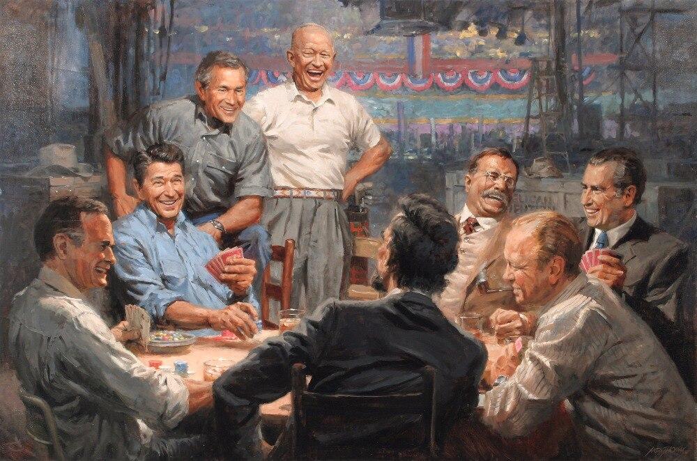 2019 крутой лучший подарок топ оригинальный принт художественная живопись маслом американская историческая живопись на холсте президент США ART