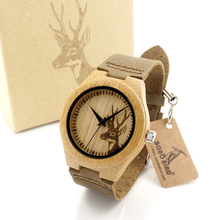3.5 CM/4.1 CM Hombres Mujeres Relojes De Madera De Bambú PÁJARO BOBO Marca Famosa Reloj de Madera de Lujo de Relojes de Pulsera Reloj de Cuarzo Hombre