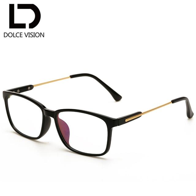 DOLCE VISION Cool Clear Lens Glasses Women Black Glasses Frame Men ...