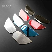 IN ACCIAIO INOX PORTA INTERNA MANIGLIA BOWL TRIM PAD ADESIVI FIT PER HONDA CIVIC 2016 2017 10TH CAR STYLING 4 pz/set
