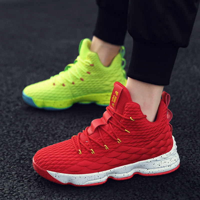 High-top Lebron Basketball Shoes Men Women Cushioning Breathable Basketball Sneakers Anti-skid Athletic Outdoor Man Sport ShoesHigh-top Lebron Basketball Shoes Men Women Cushioning Breathable Basketball Sneakers Anti-skid Athletic Outdoor Man Sport Shoes