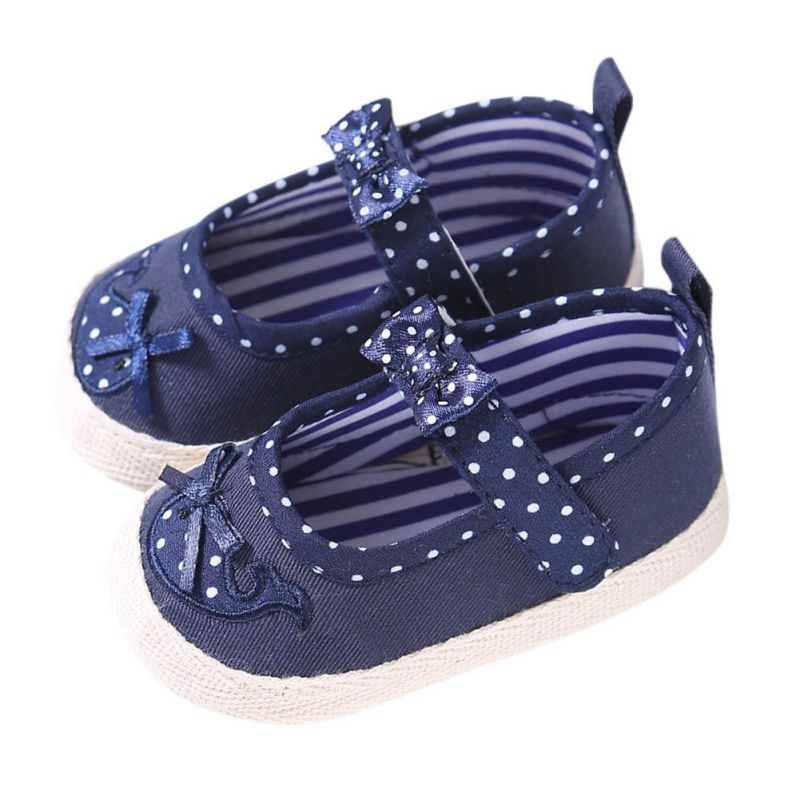 Lovely Newborn Spring Autumn Baby Shoes Bow Knot Kids Girl Cloth Infant Kids Girl Soft Sole Crib Toddler First Walkers Footwear