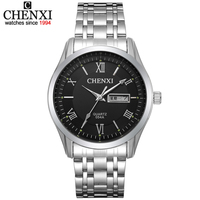 CHENXI Men Fashion Brand Watches Stainless Steel Boys Wristwatch Analog Quartz Dress Man Fashions Clock Men