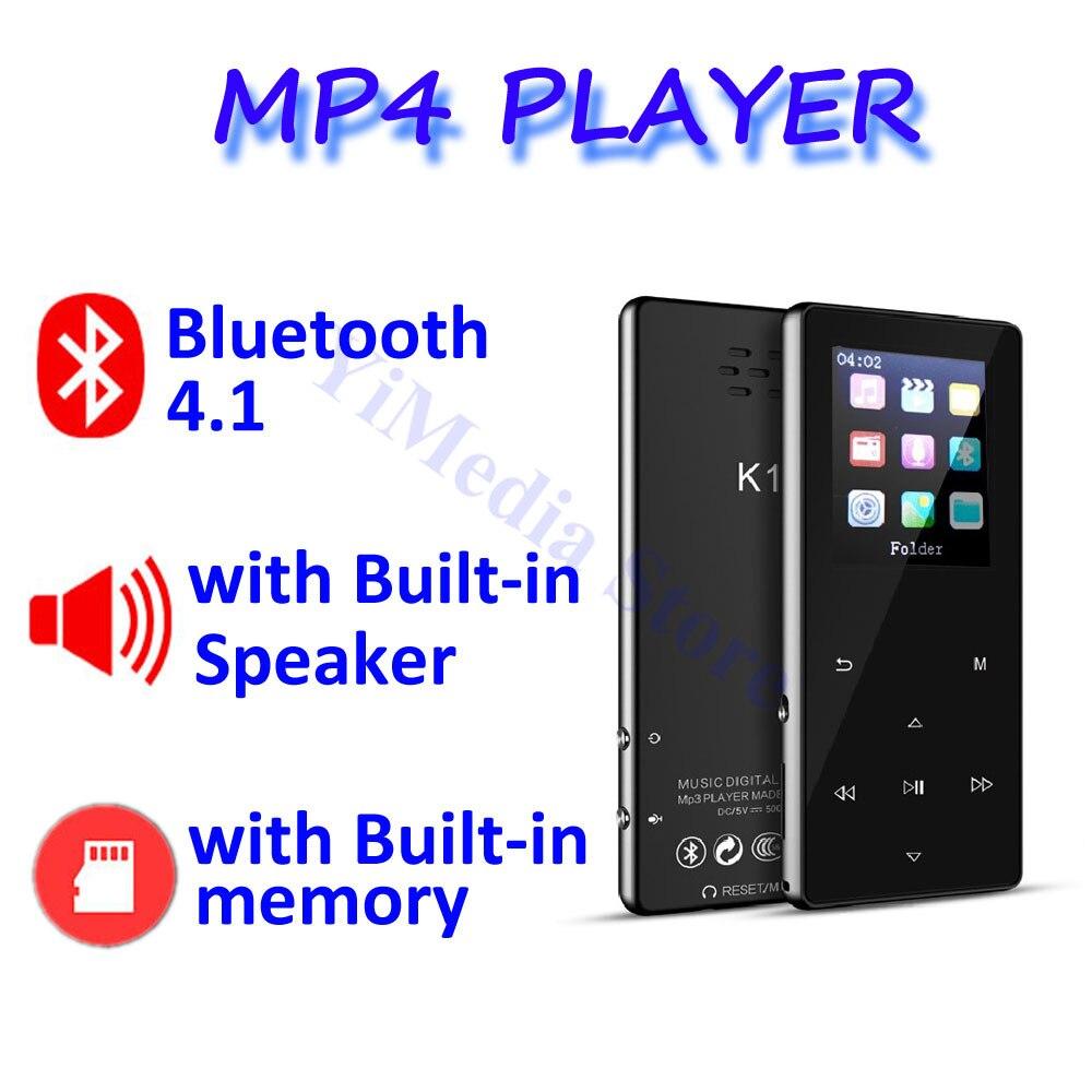 Lecteur MP4 baladeur avec lecteur mp3 bluetooth lecteur de musique mp4 portable mp 4 supports slim 1.8 pouces touches tactiles radio fm vidéo Hifi