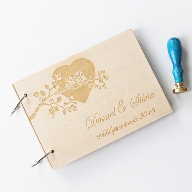 Cute Wedding Guest Book Ideas: Custom Wedding Guest Book , Wood Rustic Wedding Guestbook