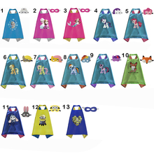 New Party Supplies for kids Double Side kids Superhero Capes Super hero Batman Spiderman Supergirl kids capes with mask 13 piece