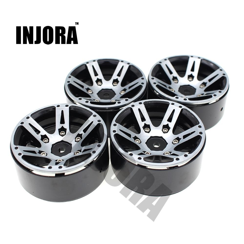4 unids RC Rock Crawler rueda de Metal borde 1,9 pulgadas BEADLOCK para 1/10 Axial SCX10 90046 TAMIYA CC01 D90 D110 TF2 Traxxas TRX-4
