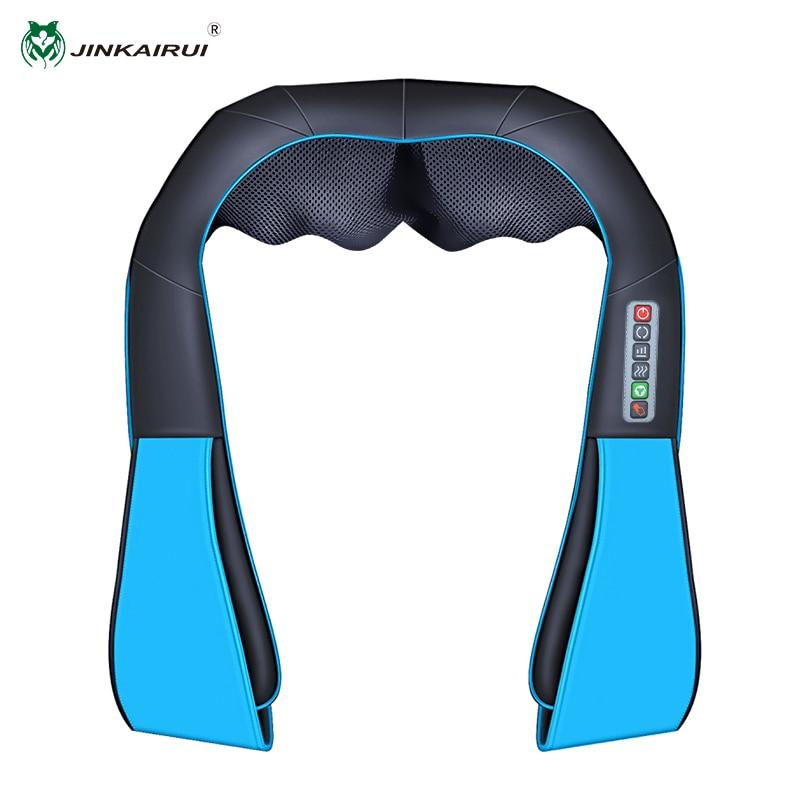 JinKaiRui New Shiatsu Massager Electric Heat Body Massage 3D Kneading Pillow Massager for Neck Back Shoulders